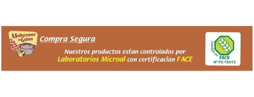 Comida Sin Gluten. Certificados por ASPROCESE.